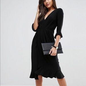 ASOS black wrap dress